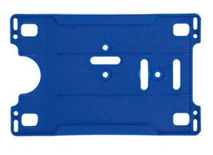 Blue Open Faced Badge Holder
