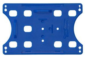 Blue Ecologic open Faced Card Holder- Horizontal