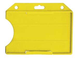 Yellow Rigid Open Face Badge Holder