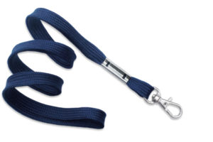 Navy Blue 16mm Microweave Lanyard with Trigger Snap