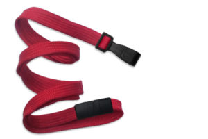 Red 10mm Flat Lanyard with Plastic Slide Hook