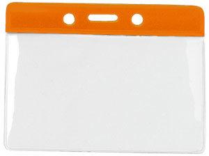 1820-1005 orange colour bar vinyl badge holder