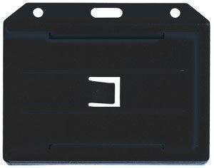 Black dual side multi card holder