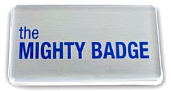 Large mighty badge silver