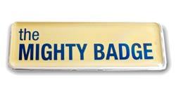 medium mighty badge gold