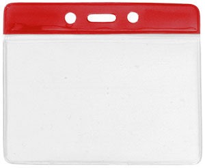 Large red colour bar vinyl badge holder