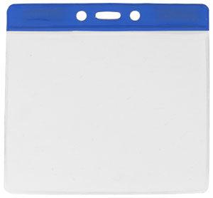 Blue extra large vinyl badge holder