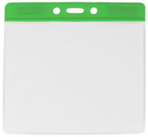Green extra large vinyl badge holder
