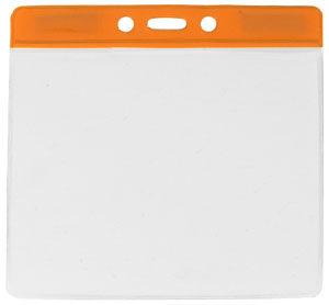 Orange extra large vinyl badge holder