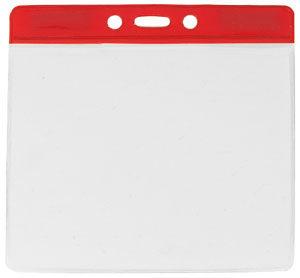 Red extra large vinyl badge holder