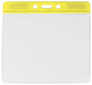 Yellow extra large vinyl badge holder
