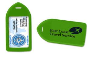 Neon green luggage tag