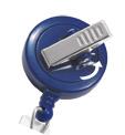 Blue Swivel-Back No-Twist Badge Reel.
