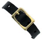 Leather luggage strap with 5 adjustment holes