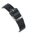 Leather luggage strap with Nickel plated buckle