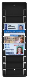 10 card badge rack