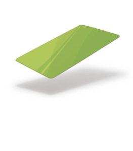 Green fluorescent blank card