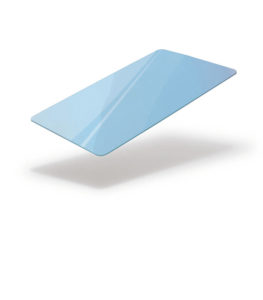 Light blue blank card