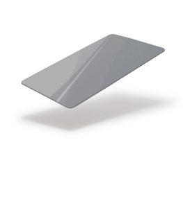 Silver metallic blank card